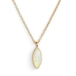 NWT Gorjana Rumi White Opalite Adjustable Necklace